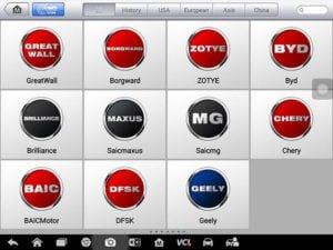 Autel Maxisys MS908S Pro dòng xe hỗ trợ