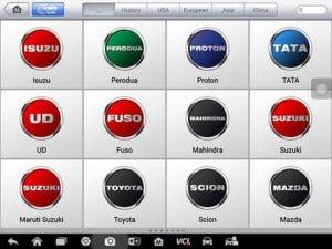 Autel Maxisys MS908S Pro chẩn đoán các dòng xe