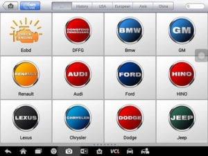 Autel Maxisys MS908S Pro các dòng xe hỗ trợ
