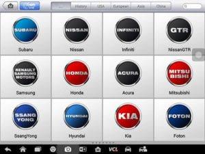 Autel Maxisys MS908S Pro hỗ trợ các dòng xe ô tô