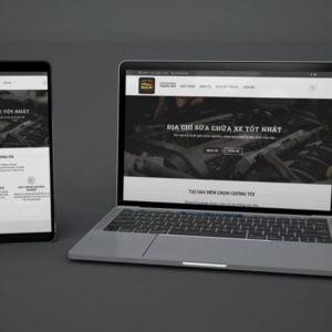 Thiết kế website sửa chữa ô tô