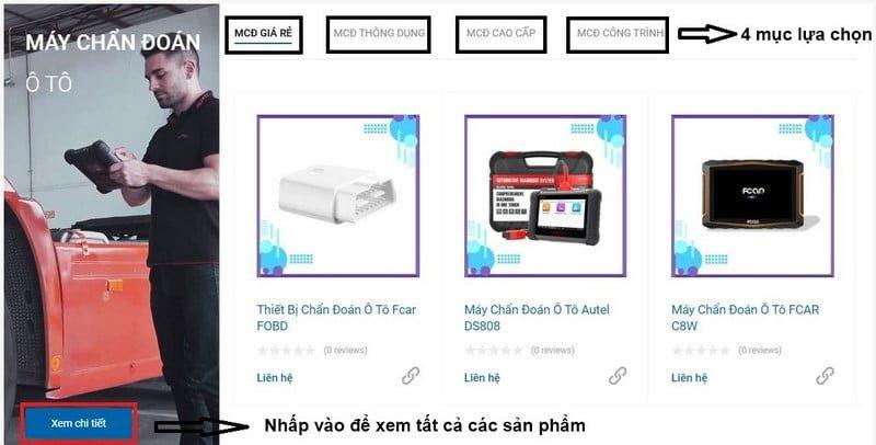 Hướng dẫn tìm kiếm các mặt hàng tại website