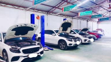 Garage sửa chữa xe châu Âu
