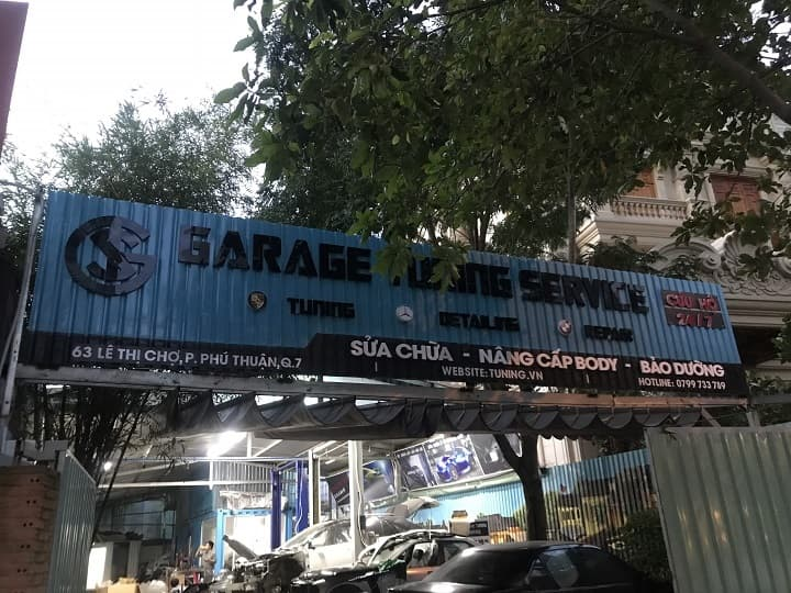 Top gara sửa chữa ô tô uy tín - garage tuning service